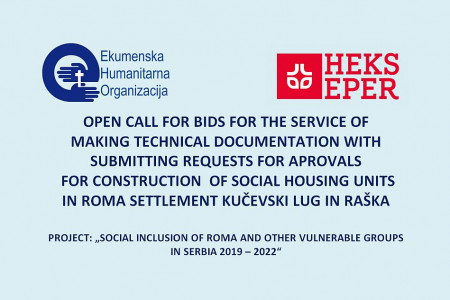 open call - Roma settlement Kučevski Lug/Raška