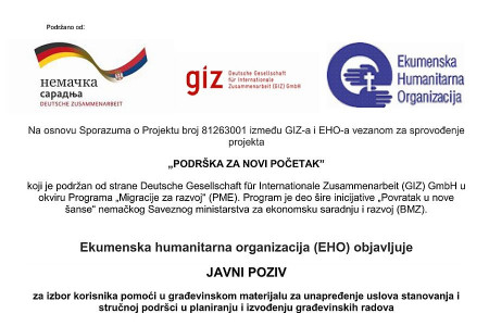 Javni poziv EHO-GIZ